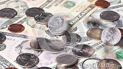 U S Dollars de chute clips vidéos