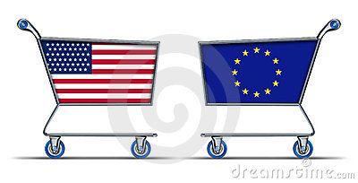 U.S.A. European union trade market surplus deficit