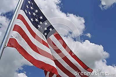 U.S. flag tilted