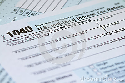 2013 U.S. Individual Income Tax Return 1040 IRS Tax Form