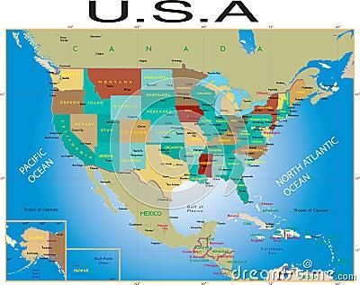 U.S.A map.