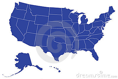 USA/United States Map (Separable Borders Vector)