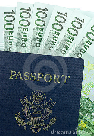 U.S. Passport and 100 Euro