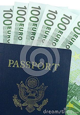U.S. Passport and 100 Euro