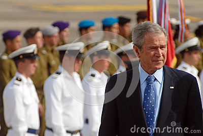 U.S. President George W. Bush visit to Israel Editorial Stock Image