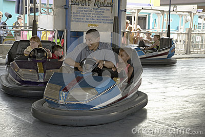 U.S. Senator Barak Obama driving bumper car Editorial Stock Photo