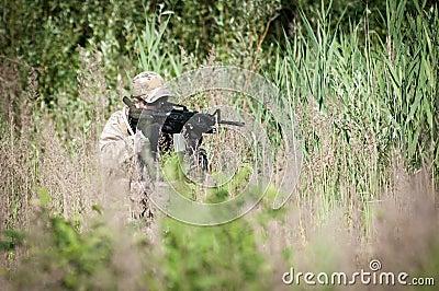 U.S. soldier on patrol