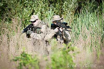 U.S. soldiers on patrol