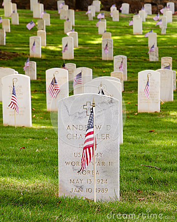 U.S. war veterans cemetery Editorial Photography