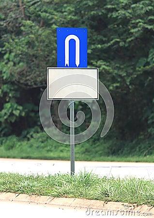 U turn signage