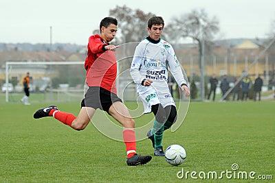 U19 soccer game Editorial Stock Photo
