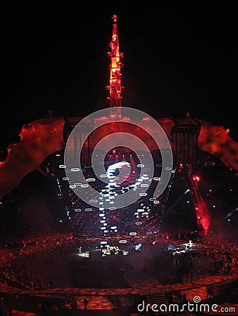 U2 Concert Editorial Photo