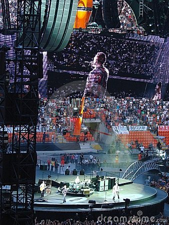 U2 concert in Milan Editorial Photography
