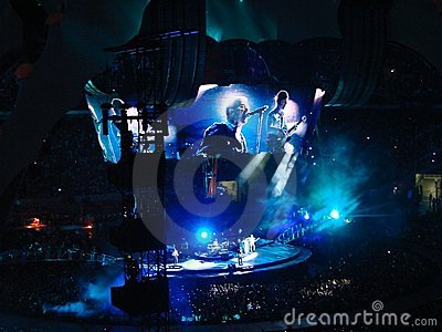 U2 concert in Milan Editorial Stock Image