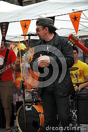 U2 singer Bono Editorial Photography