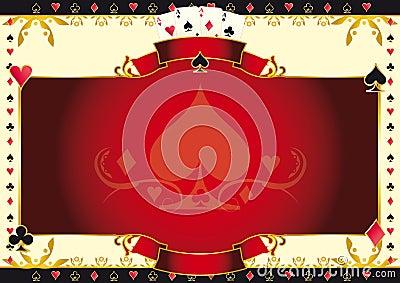 poker game heart horizontal background.