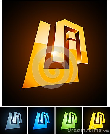 UA vibrant emblems.