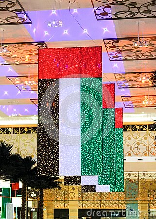 Uae Flag At Mardib City Center Free Public Domain Cc0 Image