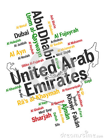 UAE map and cities