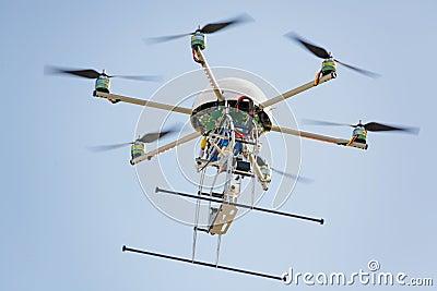 Uav drone in sky