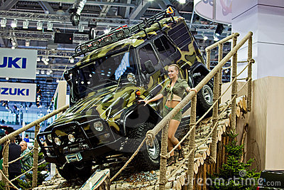 UAZ Patriot presented in Moscow, Russia. Editorial Photo
