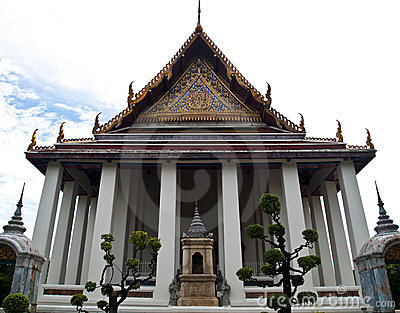 The Ubosot of Wat Suthat in Bangkok , Thailand Stock Photo