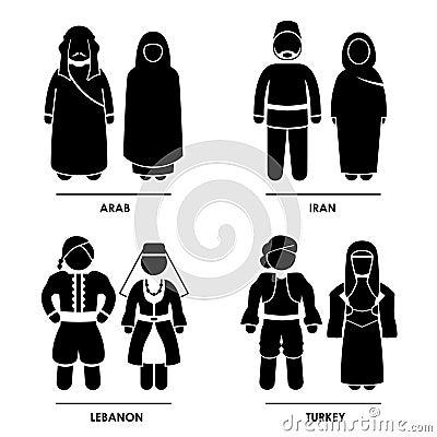 Ubraniowy Azja zachodni Kostium