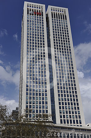 UBS Skyscraper in Frankfurt on the Main, Germany Editorial Image