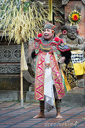 Traditional classical Barong theatre show on Bali Editorial Stock Photo