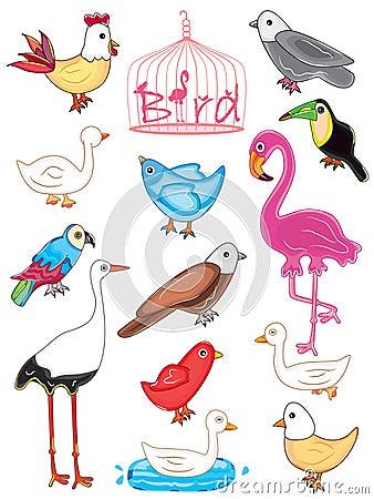 Uccelli impostati