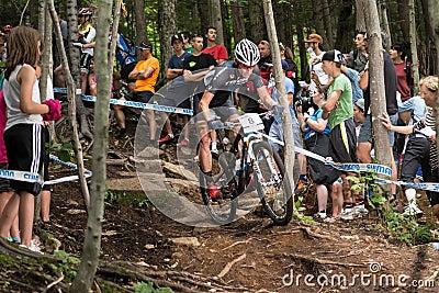 UCI-Wereldbeker Dwarsland 2013, Mont Ste-Anne, B Redactionele Stock Afbeelding