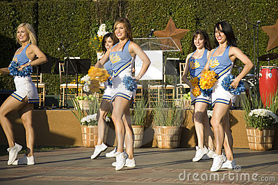 UCLA Cheerleaders 3 Editorial Photography