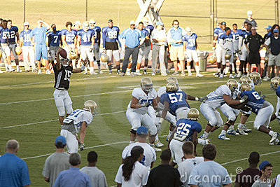 UCLA Football Scrimmage Editorial Stock Photo