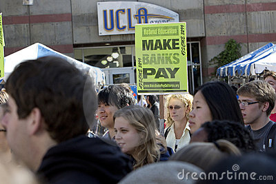 UCLA Occupy Protest Editorial Stock Image