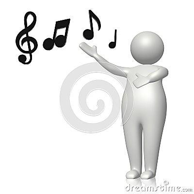 Uczy się śpiewa