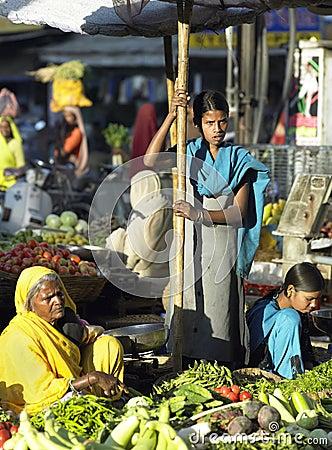 Udaipur Food Market - India Editorial Image