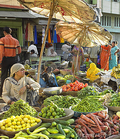 Udaipur Food Market - Rajasthan - India Editorial Photography
