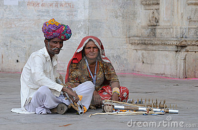 Udaipur Musicians Editorial Stock Photo