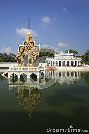 Uderzenie w Royal Palace, Ayutthaya -, Tajlandia