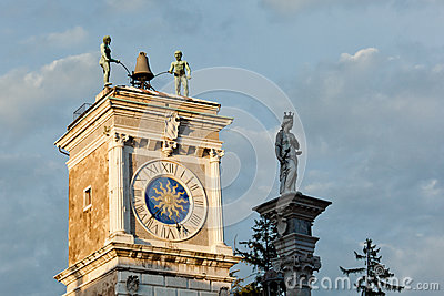 Udine, the clock tower
