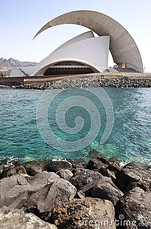 Uditorio de Tenerife Editorial Stock Photo