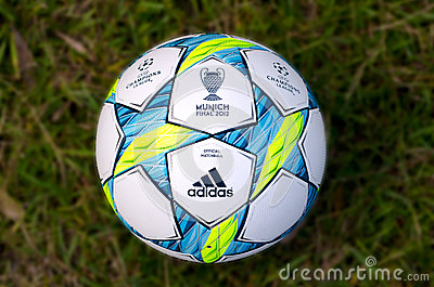 UEFA Champions League 2012 Ball - Final Editorial Stock Photo