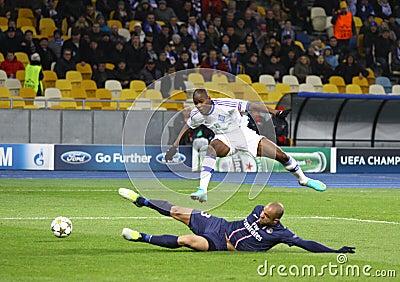 UEFA Champions League game Dynamo Kyiv vs PSG Editorial Photo