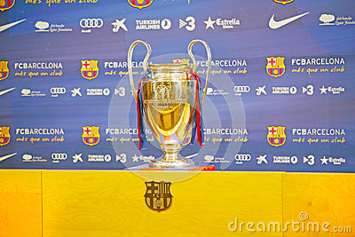 UEFA Champions League Trophy Tour 2012 Editorial Photo