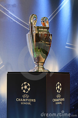 The UEFA Cup trophy Editorial Photography