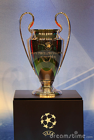 The UEFA Cup trophy Editorial Photo