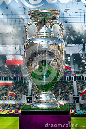 UEFA cup trophy Editorial Stock Image