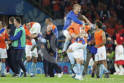 UEFA Euro 2008 - France v. Netherlands Editorial Stock Image
