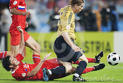 UEFA Euro 2008 - Spain v. Russia Editorial Photography