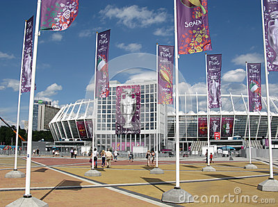 UEFA Euro 2012, before the final, Kiev, arena Editorial Stock Photo